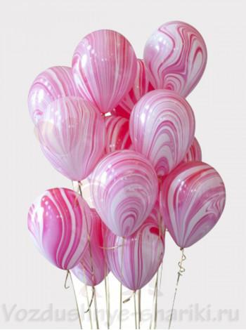 Воздушные шары Агат Red White