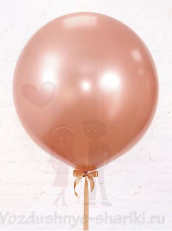 Большой воздушный шар розовое золото