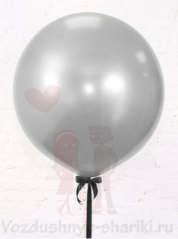 Большой воздушный шар серебро
