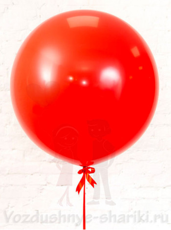 Большой красный воздушный шар