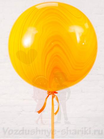 Большой Супер Агат Yellow Orange