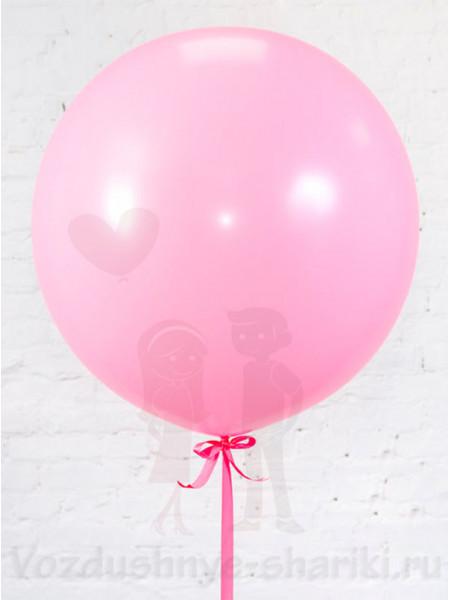 Большой розовый воздушный шар