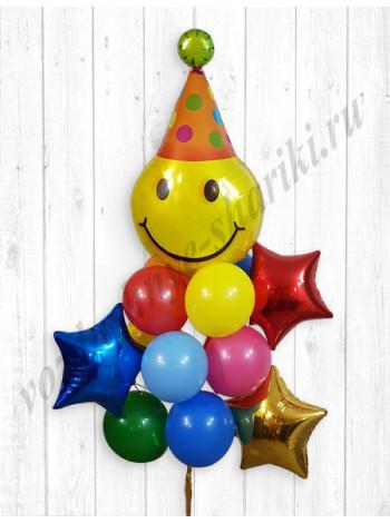 Букет Смайл с Днем Рождения