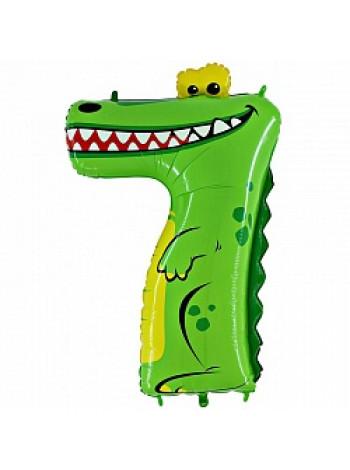 Цифра 7 крокодил