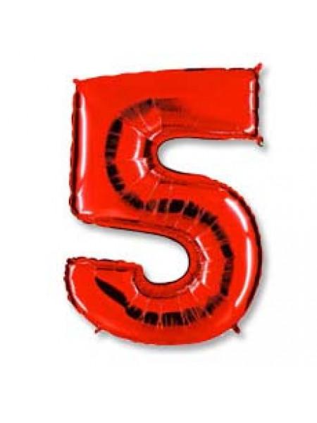 Цифра 5 красная