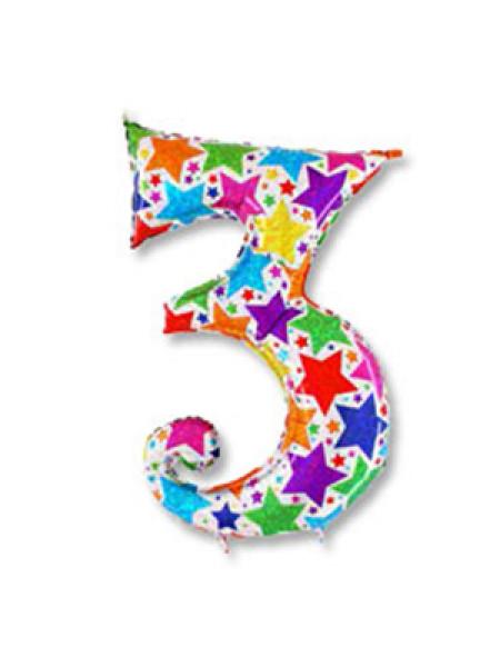 Цифра 3 дизайнерская