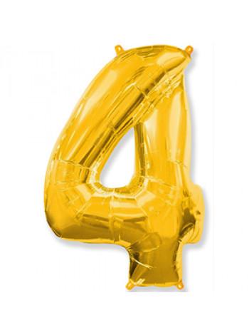 Цифра 4 золото
