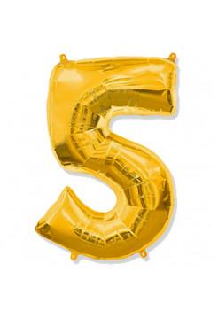 Цифра 5 золото