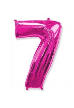 Цифра 7 фукси