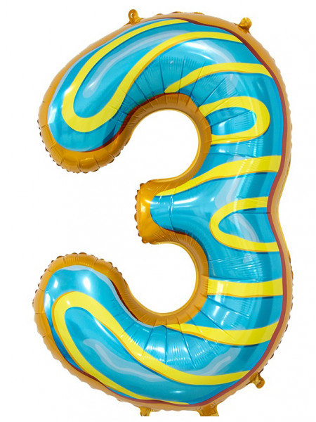 Цифра 3 Пончик