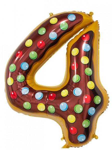 Цифра 4 Пончик