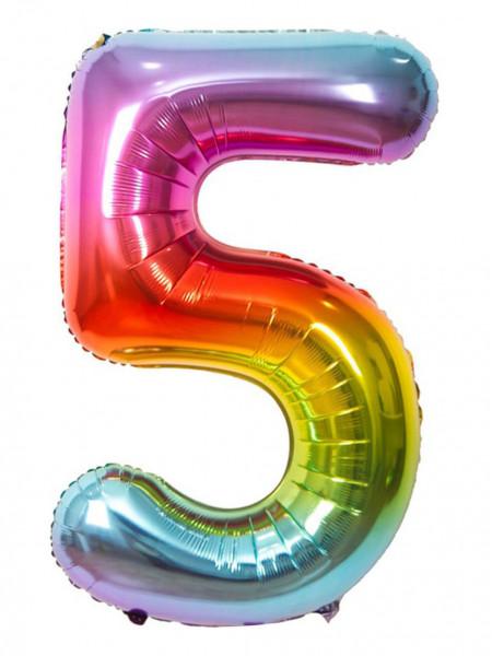 Цифра 5 Радуга