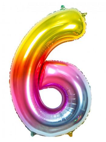 Цифра 6 Радуга