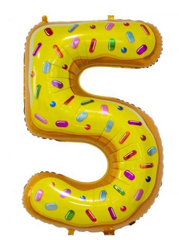 Цифра 5 Пончик