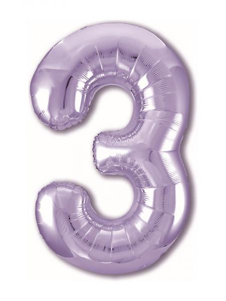 Цифра 3 Сиреневая