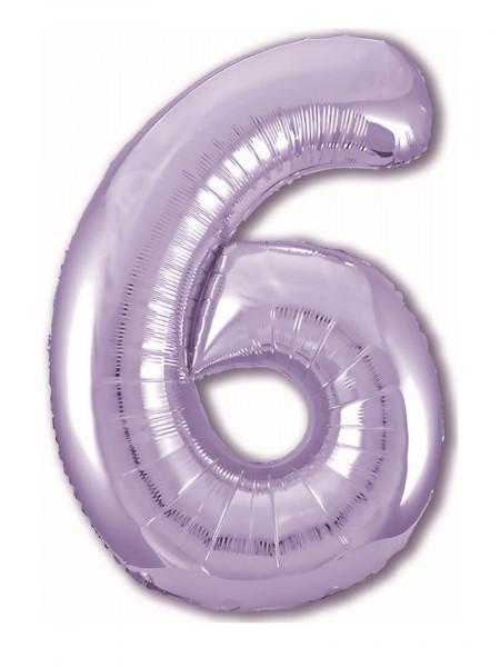 Цифра 6 Сиреневая
