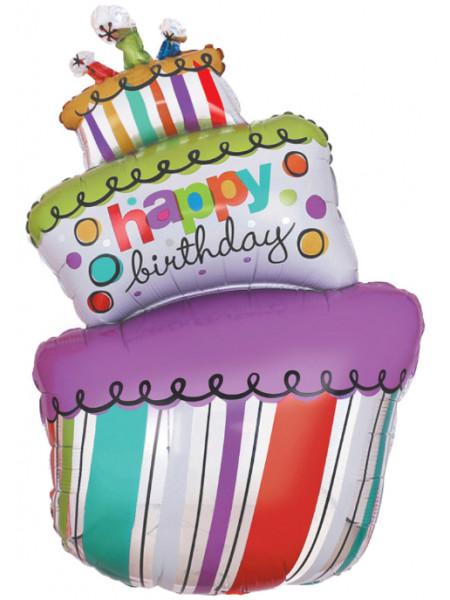 Фольгированная фигура Торт с Днем Рождения