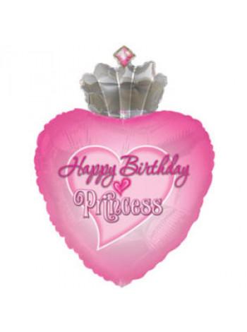 Фольгированная фигура С Днем Рождения Принцесса