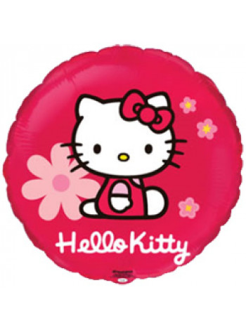 Фольгированный круг Hello Kitty