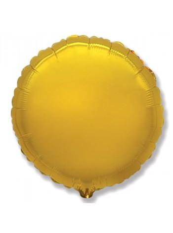 Фольгированный круг золото