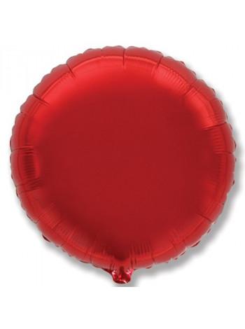 Фольгированный круг красный
