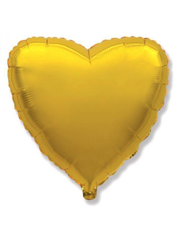 Фольгированное сердце золото