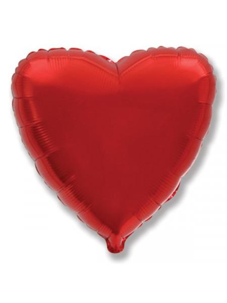 Фольгированное сердце красное