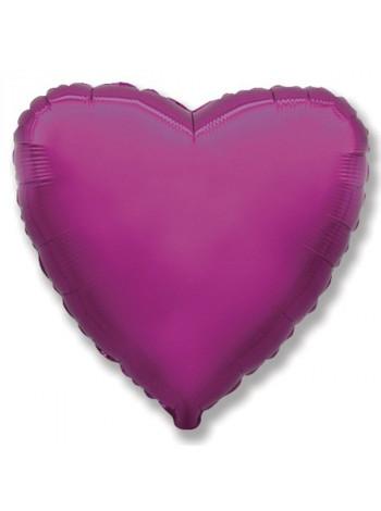 Фольгированное сердце фукси