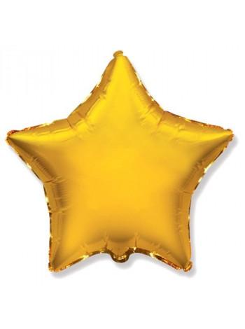 Фольгированная звезда золото