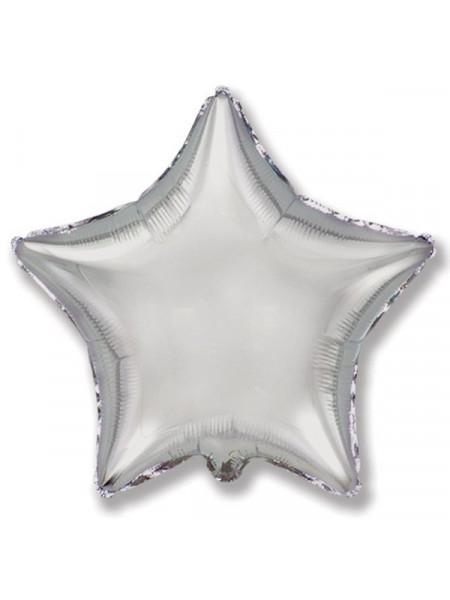 Фольгированная звезда серебро