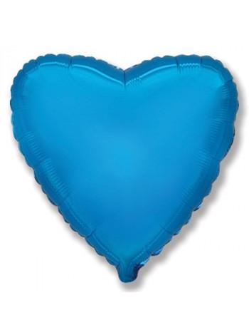 Фольгированное сердце синее