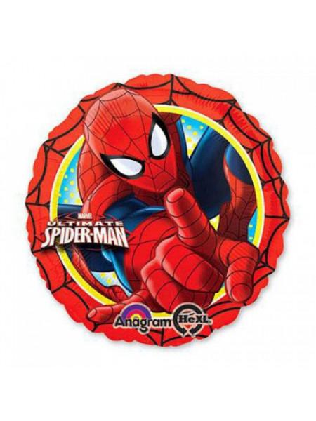 Фольгированный круг Человек паук