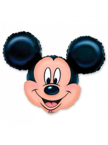 Фольгированная фигура голова Микки Маус