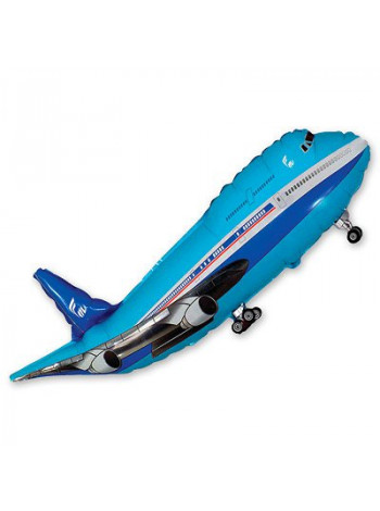 Фольгированная фигура Самолет синий