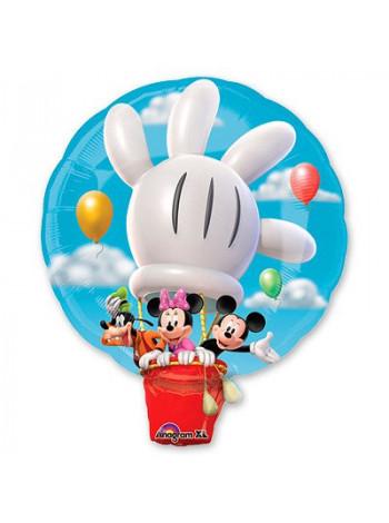 Фольгированная фигура Микки на воздушном шаре