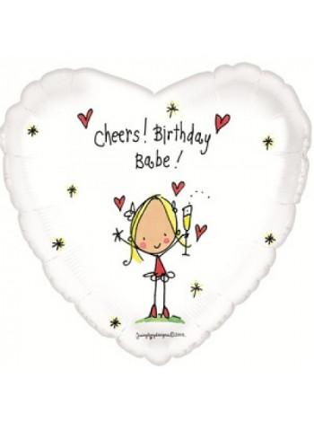 Фольгированное сердце С Днем рождения детка