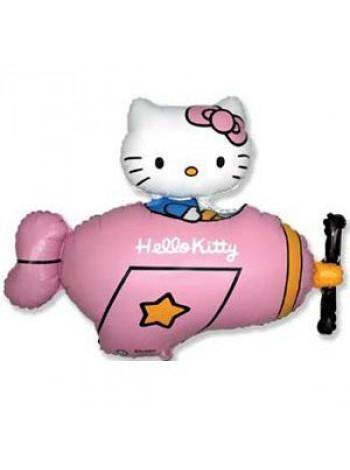 Фольгированная фигура Hello Kitty в самолете