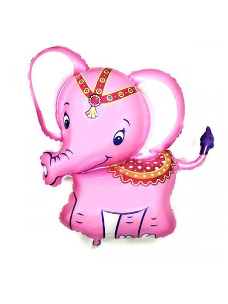 Фольгированная фигура слоненок розовый