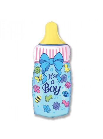 Фольгированная фигура бутылочка для мальчика
