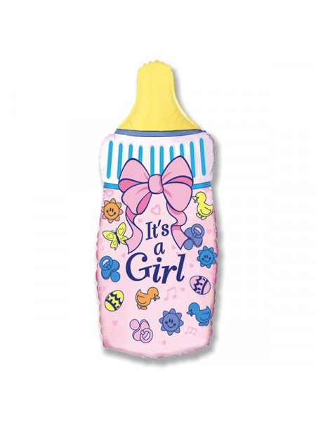 Фольгированная фигура бутылочка для девочки