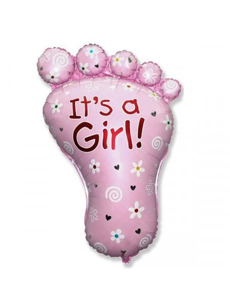 Фольгированная фигура стопа для девочки