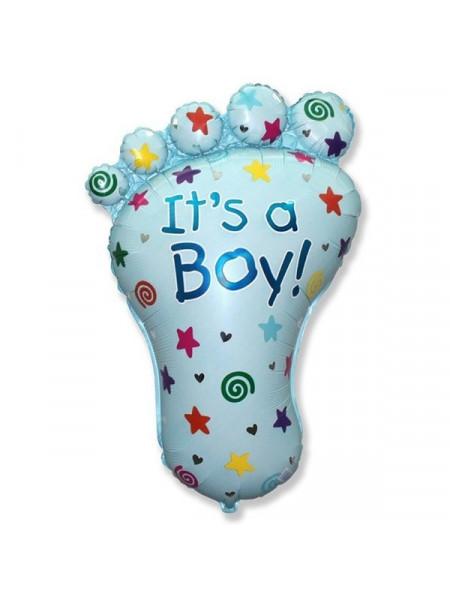 Фольгированная фигура стопа для мальчика