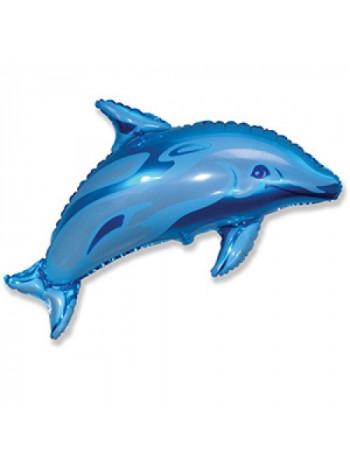 Фольгированная фигура Дельфин Синий