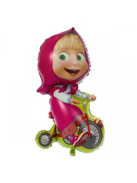 Фольгированная фигура Маша на велосипеде