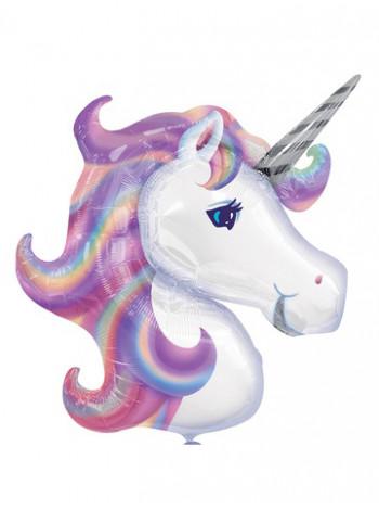 Фольгированная фигура Единорог Фиолетовый