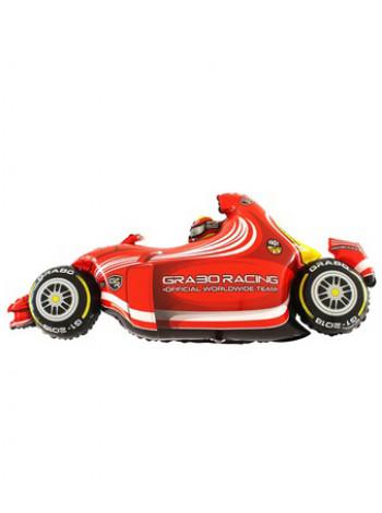 Фольгированная фигура Машина гоночная красная