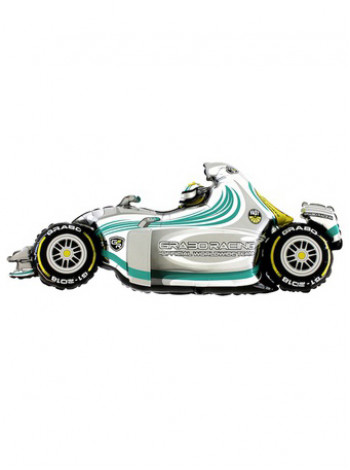 Фольгированная фигура Машина гоночная серая