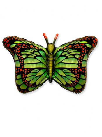 Фольгированная фигура Бабочка крылья зеленые