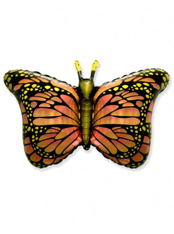Фольгированная фигура Бабочка крылья оранжевые