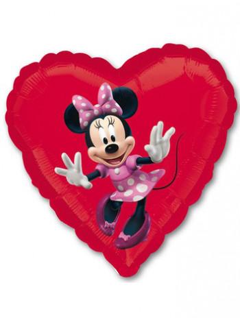Фольгированное сердце Минни